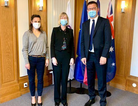 La nouvelle Ambassadrice d'Australie en France, Son Excellence Gillian Bird