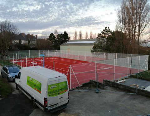 travaux tennis de la Polle